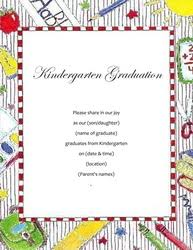 kindergarten graduation invitations graduation free suggested wording by theme geographics