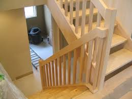 Replacement Stair Banisters Renovation Warm Contemporary Maple Stair U0026 Rail Replacement