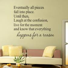 english quote everything happens for a reason art wall sticker does not apply