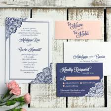 lace wedding invitation sample set elegant wedding invitation