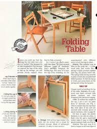 Wood Folding Table Plans Folding Table Woodworking Plans With Wonderful Innovation