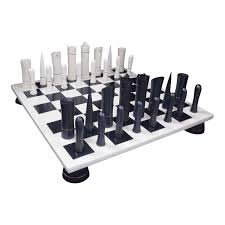 Cool Chess Boards by Chess Set White Black Board Italfama Chess Touch Of Modern