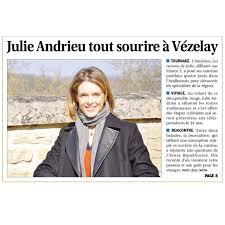 la cuisine de julie julie andrieu tout sourire à vézelay julie andrieu