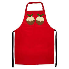 xmas pudding apron funny cooking christmas dinner