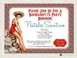 bachelorette invitation mexican theme tequila margarita retro