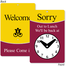 clock signs will return signs