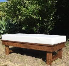 bench rentals rent wood ottoman bench just 4 party rentals santa barbara