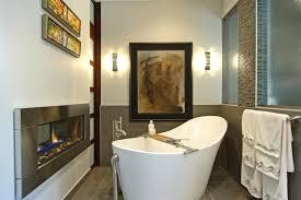 See Through Bathroom See Through Gas Fireplace Houzz