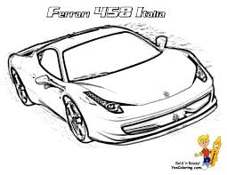 superb race car coloring book colouring pages 15 ferrari 458