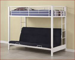 edison twin over futon metal bunk bed we btofbl wt