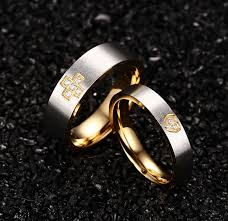 2pcs lot new arrival simple style ring cz men ring fashion aliexpress buy 2pcs lots wedding ring for newly married