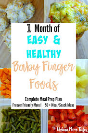 1 month of easy u0026 healthy baby finger food recipes meal prep plan