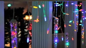 Multi Color Icicle Lights Gemmy Lightshow Starry Night Multicolor Led Icicle Lights Youtube