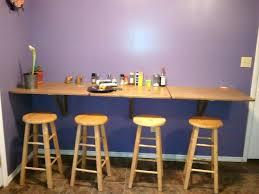 Wall Mounted Drop Leaf Table And Stools Bjursta Brown Black Ikea