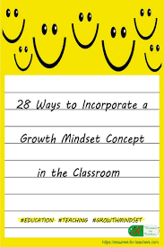 28 ways to incorporate a growth mindset concept in the classroom