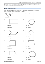 Finding Interior Angles Of A Polygon Worksheet Angles U2013 Angles In Polygons Teachit Maths