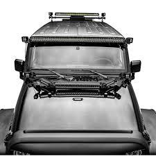 jeep light bar bumper zroadz z350050 jk kit a jeep wrangler modular roof rack mounting