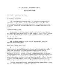 ideas collection sample cover letter for journeyman lineman about