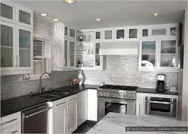 backsplash in white kitchen black and white kitchen backsplash
