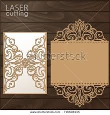wedding card to laser cut wedding invitation card template stock vector 716698135
