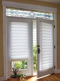 Patio Doors Blinds This White Vignette Trendy Shades On A Door On