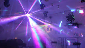 home disco lights synchronized to 4 scanners moving heads