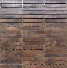 Copper Backsplash Tiles Metallic Copper Leaf Glass Tiles Are Made - Bronze backsplash tiles