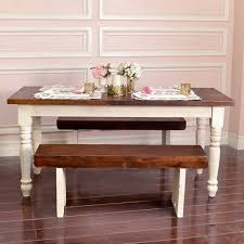 Dining Table White Legs Wooden Top White Farmhouse Dining Table Thejots Net