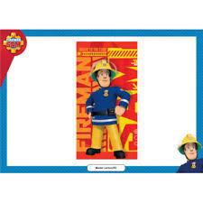 children u0027s fireman sam bath towels flannels ebay