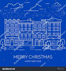 real estate new years cards winter christmas new year city stock vector 519051088