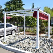 aleko 10 x 10 feet grape trellis pergola outdoor canopy gazebo