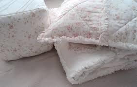 shabby chic bedding for girls 3 pc baby rag quilt pillow jumbo block nursery decor set
