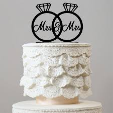 ring cake topper mrs mrs wedding cake topper same