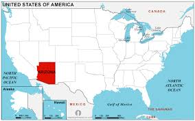 map of the united states with arizona highlighted road map arizona usa maps of usa arizona state outline and icon