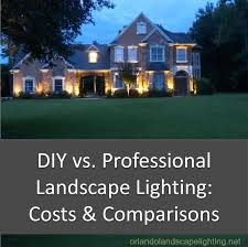 Landscape Lighting Diy Diy Vs Professional Landscape Lighting Installation Costs And