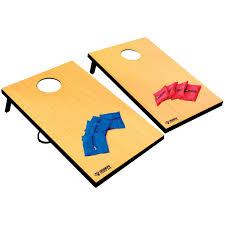triumph sports 2 in 1 bean bag toss 3 hole washer toss game set