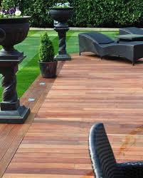 Backyard Decking Ideas by Ground Level Deck With Boarder Is My Recommendation With