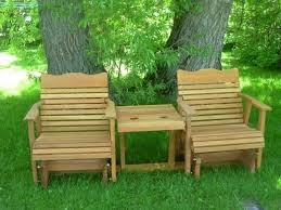 Amish Outdoor Patio Furniture Settee Glider 1 Jpg