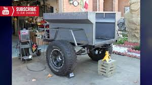 jeep trailer build 4x4 offroad trailer homemade building youtube