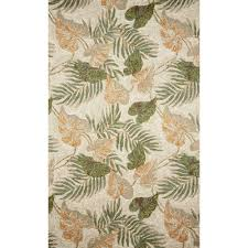 Tropical Area Rugs Transocean Ravella Collection U2013 Tropical Leaf Outdoor Rug