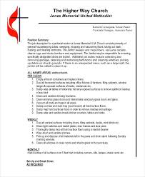 Janitor Job Duties Resume by Janitor Job Description Example 9 Free Word Pdf Documents