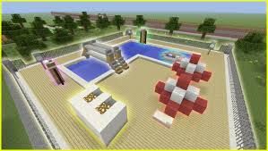 minecraft tutorial how to make a public swimming pool youtube