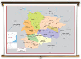 France Political Map by Andorra Political Educational Wall Map From Academia Maps