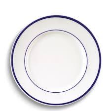 brasserie blue banded porcelain dinner plates williams sonoma