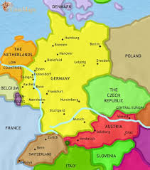 map germany austria map of germany at 1837ad timemaps