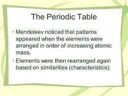 Who Is Credited With Arranging The Periodic Table Elements In The Periodic Table Are Arranged In Order Of Increasing