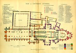 plan canterbury cathedral begun c 1100 architecture cathedral