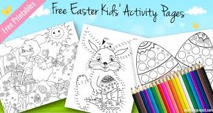 kids easter activity pages