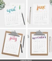 printable calendars free free printable 2016 calendar by clementine creative