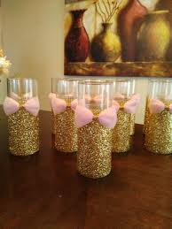 gold baby shower decorations 10 pink and gold baby shower wedding centerpiece bridal shower